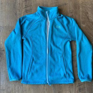 North Face Teal Youth Full-Zip Fleece - Youth M